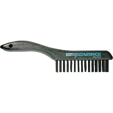 Advance Shoe Synthetic Plastic Handle SS Bristle Scratch Brush, 1 3/16 in (L) Trim