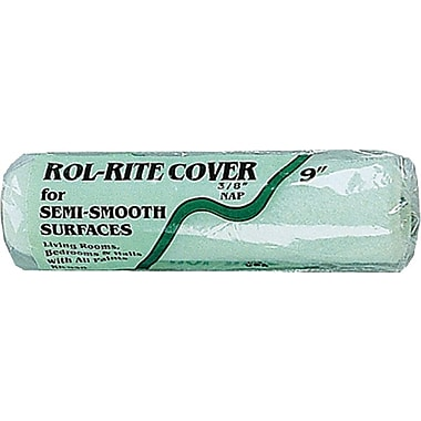 Rol-Rite 9 in Polyester Fabric Paint Roller Cover, 1/4 in (L) Nap