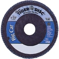 Tiger® Big Cat® 4 1/2 in (OD) 27 High Density Flat Style ZrO2 Flap Disc, 80 (Fine), 7/8 in Arbor