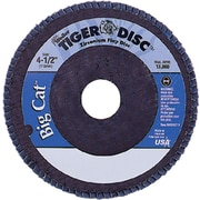Tiger® Big Cat® 4 1/2 in (OD) 27 High Density Flat Style ZrO2 Flap Disc, 40 (Medium), 7/8 in Arbor