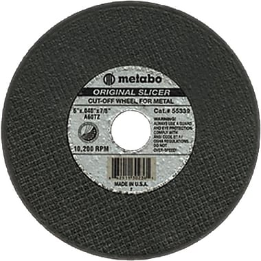 Metabo® 4 1/2 in (OD) x 0.04 in (T) 1 AO Cut-Off Wheel, 60 (Medium), 7/8 in Arbor
