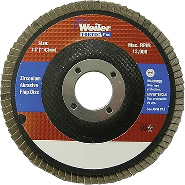 Vortec Pro® 4 1/2 in (OD) 29 Angled Style ZrO2 Flap Disc, 60 (Medium), 7/8 in Arbor