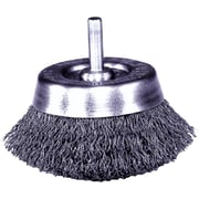 Weiler® 0.0118 in (Dia) x 7/8 in (L) CS Wire UC-22 Crimped Cup Brush, 2 3/4 in (Dia)