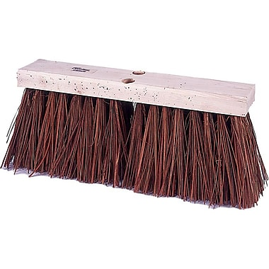 Weiler® Hardwood Handle Brown Polypropylene Bristle Street Broom