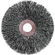 Weiler® 3 in (OD) 5/8 in (W) Face Small Diameter Crimped Wire Wheel Brush, 0.014 in Coarse, SS