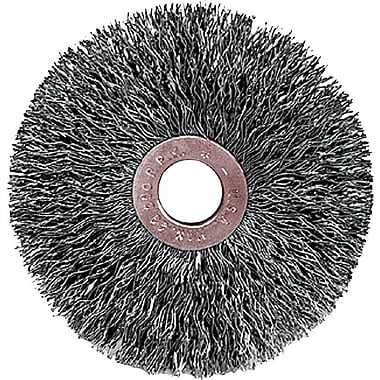 Weiler® 3 in (OD) 5/8 in (W) Face 0.014 in Coarse Small Diameter Crimped Wire Wheel Brushes