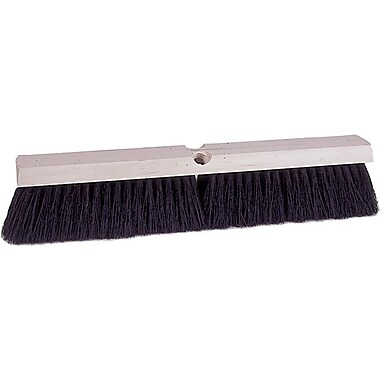 Weiler Vortec Pro 804-25235 24in. Polypropylene/Polystyrene Bristle Sweep Brush, Black