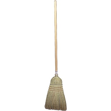 Weiler® Wood Handle Corn & Fiber Bristle Upright Broom, 57in.