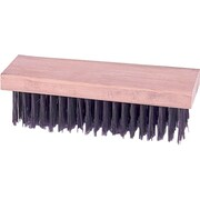 Weiler® Straight Wood Handle Block Flat Face Scratch Brush, 1 5/8 in (L) Trim