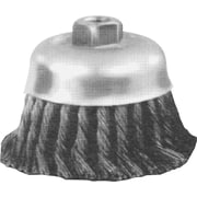 ADVANCE BRUSH 0.023 in (Dia) x 1 1/4 in (L) CS Wire 24 Knot Cup Brush, 5/8-11, 4 in (Dia)