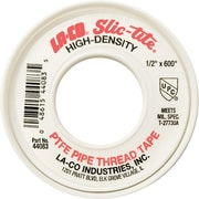 LA-CO® Slic-Tite® 300 in (L) x 4 mil (T) White Premium-Grade Thread Tape, 1/2 in (W)