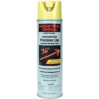 INDUSTRIAL CHOICE® Aerosol Can Marking Paint, Modified Alkyd, Fluorescent Red-Orange, 17 oz.