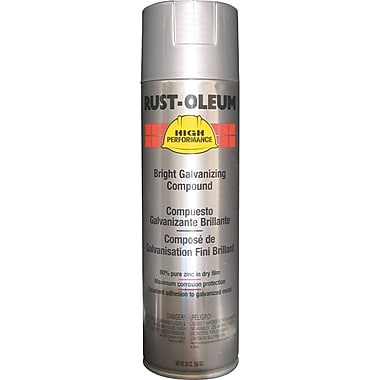 Rust-Oleum High Performance Gray V2100 System Zinc Galvanizing Compound, Aerosol, Bright, 20 oz.