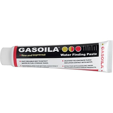 Gasoila® Chemicals Mustard Yellow Chemicals Regular Water Finding Paste, Tube 2 1/2 oz.