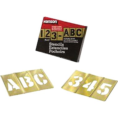 C.H. Hanson® 92 pcs Brass Interlocking Letter & Number Stencil Set, 2 in