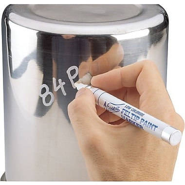 Nissen® 1/8 in Fiber Tip Low Chloride Feltip Paint Marker, White