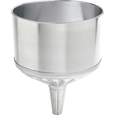 Plews® 1 in (OD) Tip 9 1/2 in (Dia) Galvanized Steel Tractor Funnel, 12 in (H), 8 qt Capacity