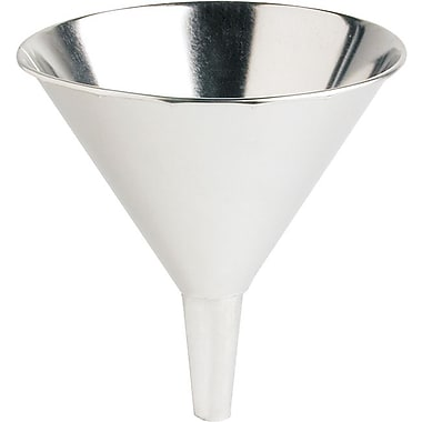Plews® 1 in (OD) Tip 8 in (Dia) Tin Coated Steel Utility Funnel, 9 in (H), 56 oz Capacity