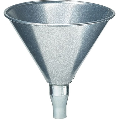 Plews® 3/4 in (OD) Tip 8 in (Dia) Galvanized Steel Marine Funnel, 8 in (H), 2 qt Capacity