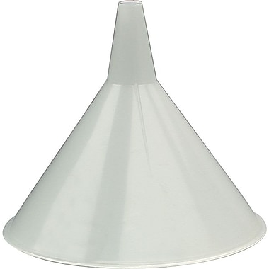 Plews® 3/4 in (OD) Tip 6 in (Diameter) Plastic Economy Utility Funnel, 5 1/2 in (H), 16 oz. Capacity