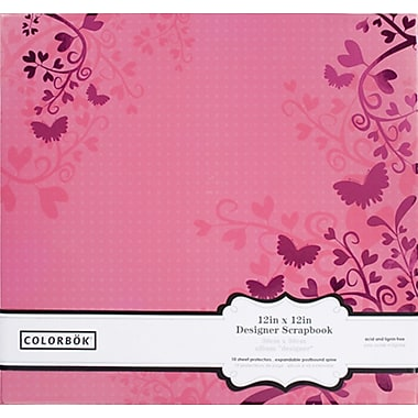 Colorbok 12in Paper Album with Foil Design, Pink
