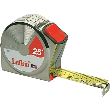 Lufkin® A1 Yellow Clad Steel Single Side Series 2000 Measuring Tape, 12 ft (L) x 1/2 in (W) Blade