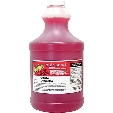 Sqwincher® Lite 5 gal Yield Liquid Concentrate Sugar Free Energy Drink, 64 oz Bottle, Fruit Punch