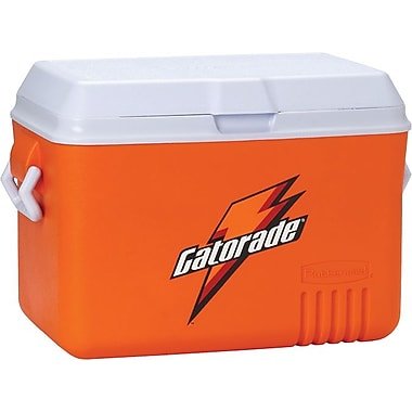 Gatorade® 24 in (L) x 15 in (W) x 16 in (H) Orange Plastic Ice Chest, 48 qt