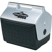 Playmate® BOSS™ 14 1/2 in (L) x 13 3/5 in (H) Black Plastic Personal Cooler, 14 qt