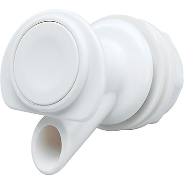 Igloo® Series 400 White Plastic Replacement Push-Button Spigot, Fits 1, 2, 3, 4 & 10 gal Coolers