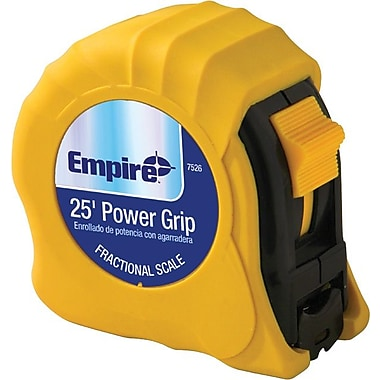 Empire® Acrylic Coated CS Single Side Measuring Tape, 25 ft (L) x 1 in (W) Blade, Durable ABS