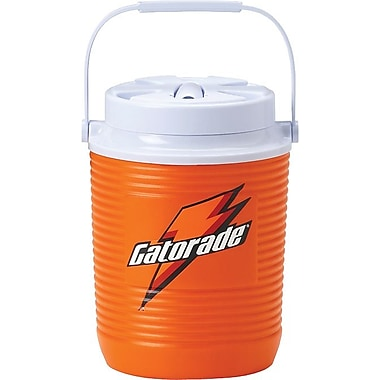 Gatorade® 11 in (L) x 8 in (W) x 8 in (H) Swing-Up Handle Orange Plastic Water Cooler, 1 gal