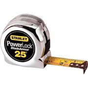 Powerlock® Mylar® Polyester BladeArmor™ Single Side Measuring Tape, 25 ft (L) x 1 in (W) Blade