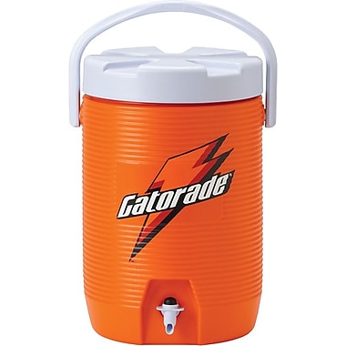 Gatorade® Orange Plastic Water Cooler with Dispenser Nozzle, 3 Gallon
