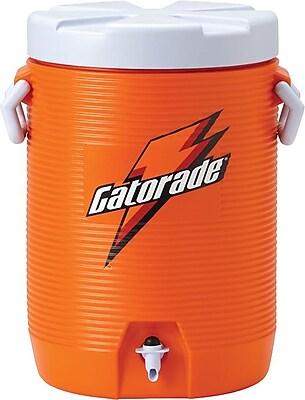 Gatorade 19 in (L) x 15 in (W) x 13 in (H) Orange Beverage Cooler with Cup Dispenser, 5 gal 580508