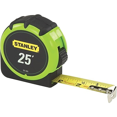 Stanley® High Visibility Measuring Tape, 25 ft (L) x 1 in (W) Blade