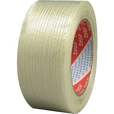 Tesa® 60 yd (L) Clear Glass Fiber Polypropylene Strapping Tape, 4.40 mil (T), 1 in (W)