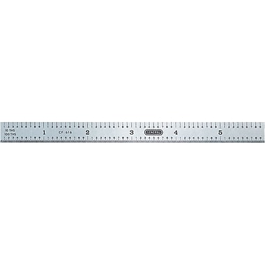 General® 6 in (L) SS 32nds 64ths And 10ths 100ths Inch Flexible Precision Ruler, 15/32 in (W)