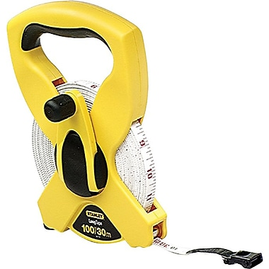 Stanley® PVC Double Side Long Measuring Tape, 100 ft (L) x 1/2 in (W) Blade