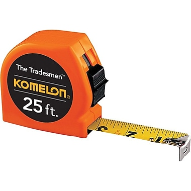 KOMELON® Acrylic Coated Steel Measuring Tape, 25 ft (L) x 1 in (W) Blade