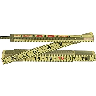 Lufkin® Red End® 6 ft (L) Wood 1/16ths Inch Folding Ruler, 5/8 in (W)