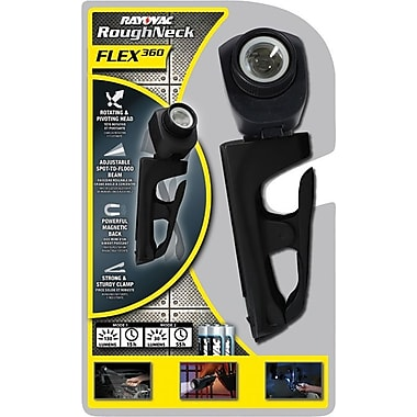 Roughneck™ 3 AA Alkaline Black Utility Flex360 Flashlight, LED