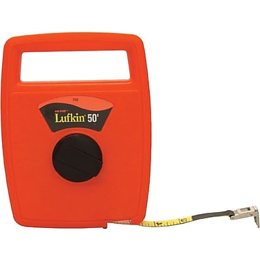 Lufkin® C1 Fiberglass Single Side Linear Measuring Tape, 100 ft (L) x 1/2 in (W) Blade