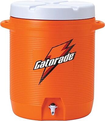 Gatorade Orange Plastic Water Cooler with Dispenser Nozzle, 7 gal 580466