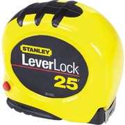 Leverlock® Polymer Coated Spring Steel Single Side Measuring Tape, 25 ft (L) x 1 in (W) Blade