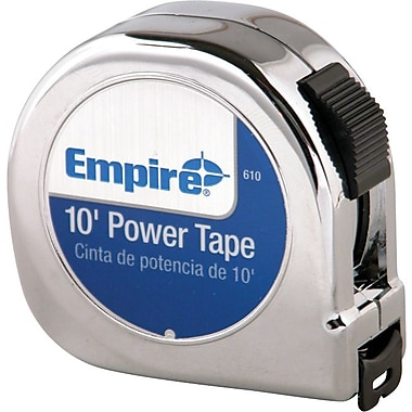 Empire® Nylon Coated CS Single Side Measuring Tape, 12 ft (L) x 5/8 in (W) Blade