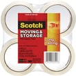 Scotch® Moving and Storage Tape, Clear, 1.88in. x 54.6 yds, 4 Rolls