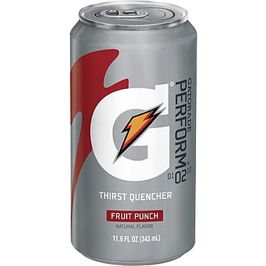 Gatorade® 11.6 oz Can Liquid Concentrate Ready-To-Drink Energy Drinks