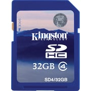 Kingston 32GB SD (SDHC) Card Class 4 Flash Memory Card