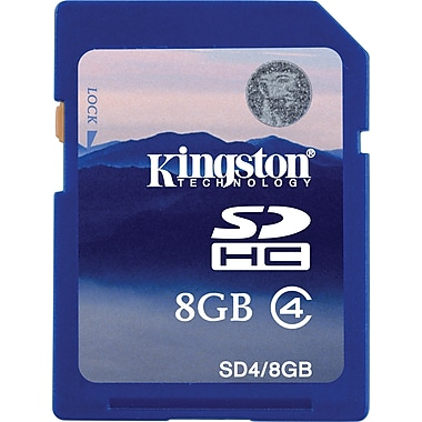 Kingston High Speed SD (SDHC) Card Class 4 Flash Memory Cards